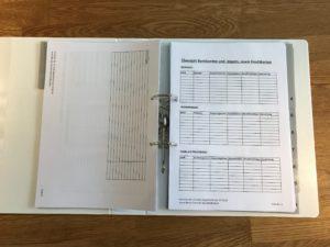 Notfallorder - Bankdaten